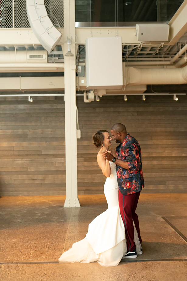 Industrial Glam Wedding with Touches of Burgundy and Greenery - Alice Hq Photography