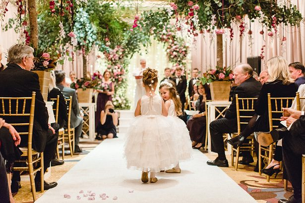 Luxury Wedding Ceremony Decor and flower girls - Melissa Schollaert Photography