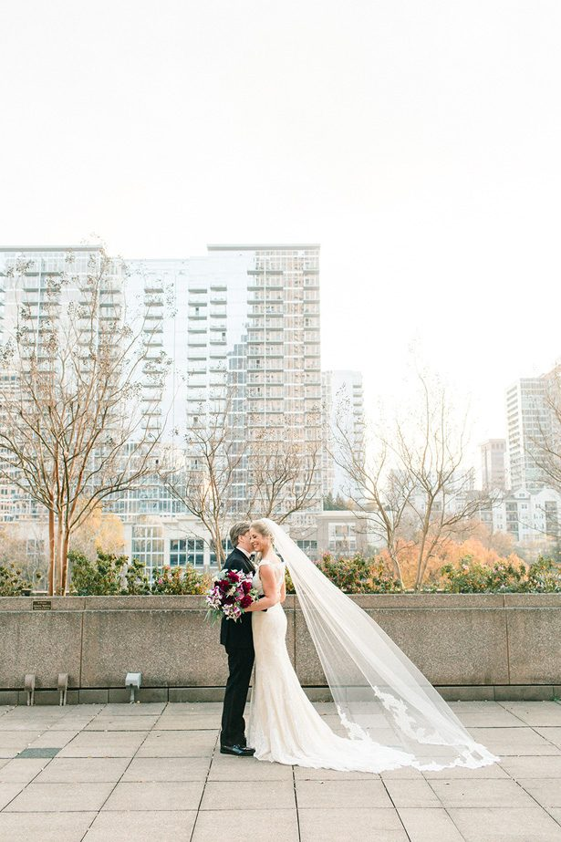 Rooftop Romantic wedding photo - Melissa Schollaert Photography