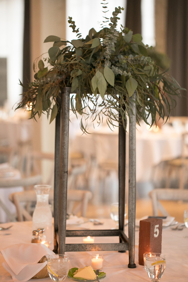 Tall Wedding Centerpieces with greenery - Alice Hq Photography