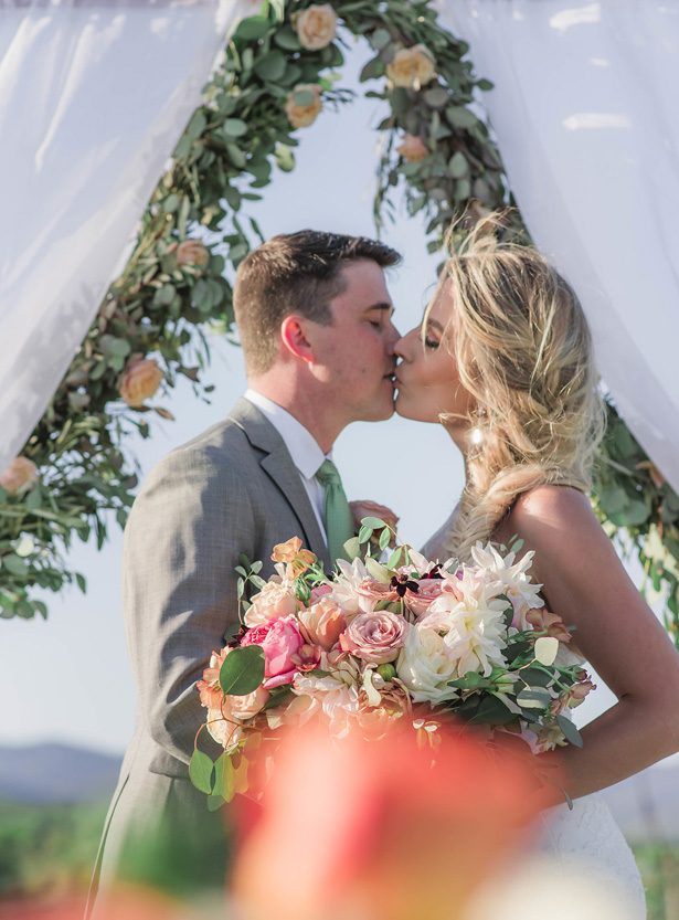 Vineyard Wedding Kiss - Emily Richardson Photography