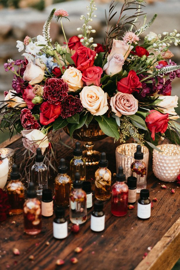 Wedding Perfume Bar Table - The Blushing Details / Quattro Studios