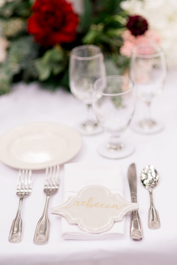 Wedding place setting - XO and Fetti Photography
