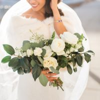 White rose wedding bouquet - Abby Anderson
