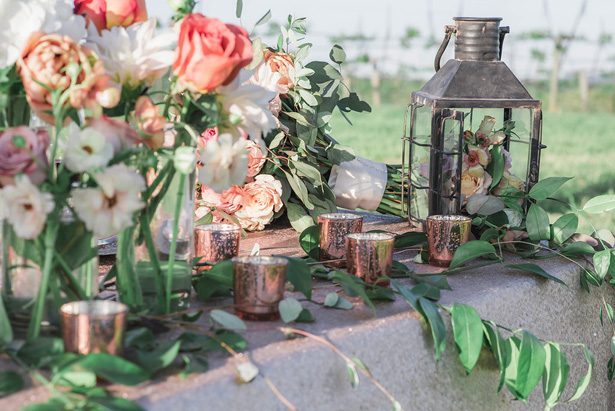 Winery Wedding Table Decor - Emily Richardson Photography