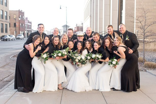 black and gold wedding party - Abby Anderson
