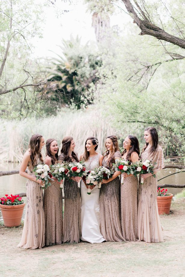 bridal party bouquets - XO and Fetti Photography