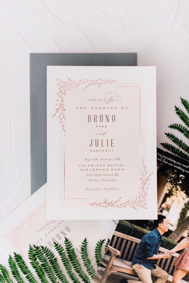 classic wedding invitation - XO and Fetti Photography