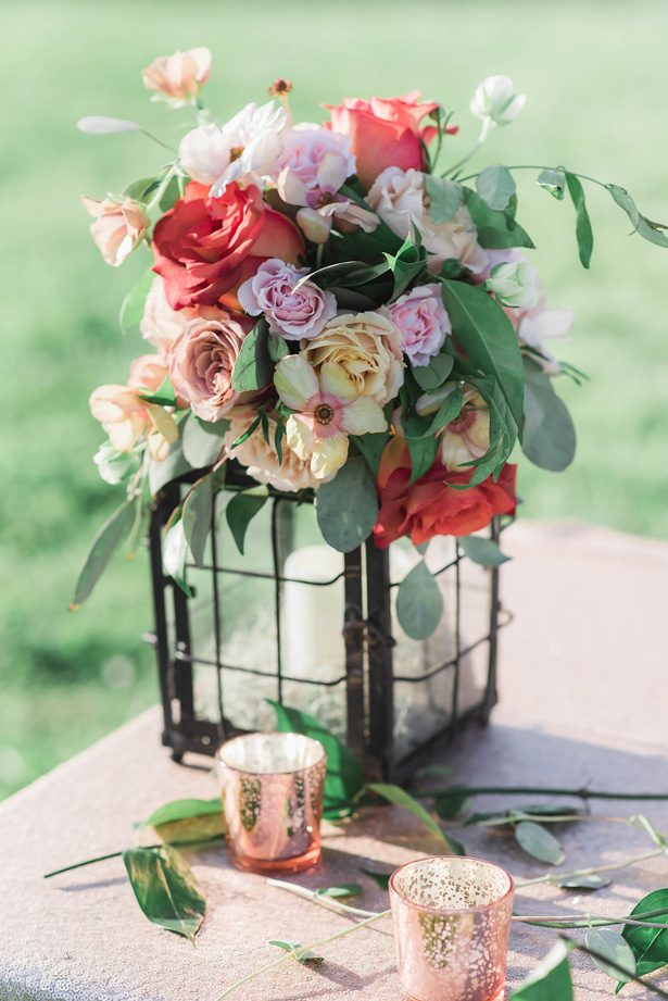 floral lantern wedding centerpiece - Emily Richardson Photography