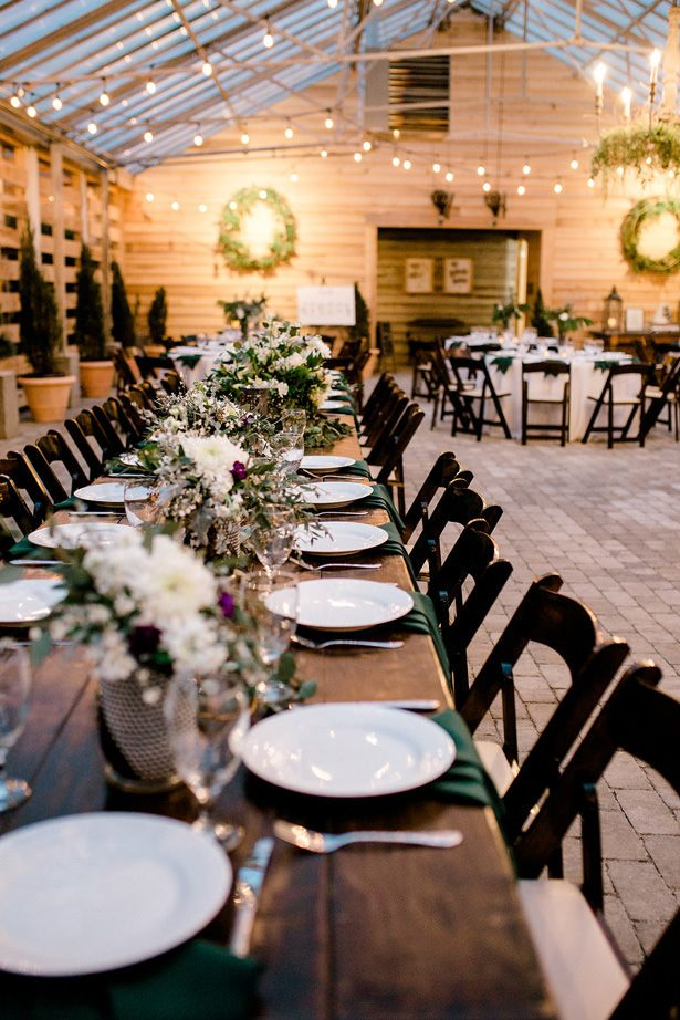 greenhouse wedding reception decor - Honey + Bee Photography