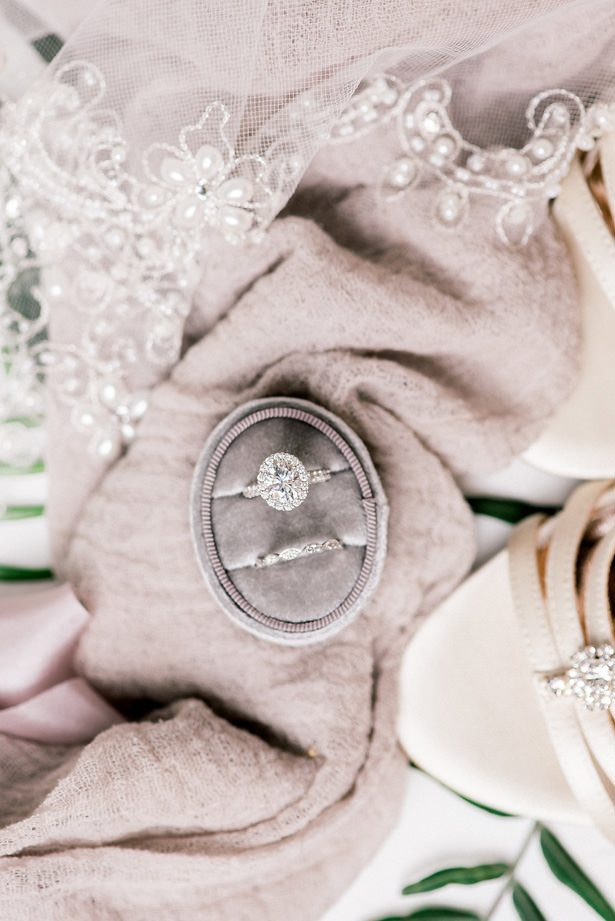 halo diamond wedding ring - XO and Fetti Photography