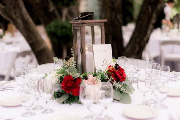 lantern wedding centerpiece - XO and Fetti Photography