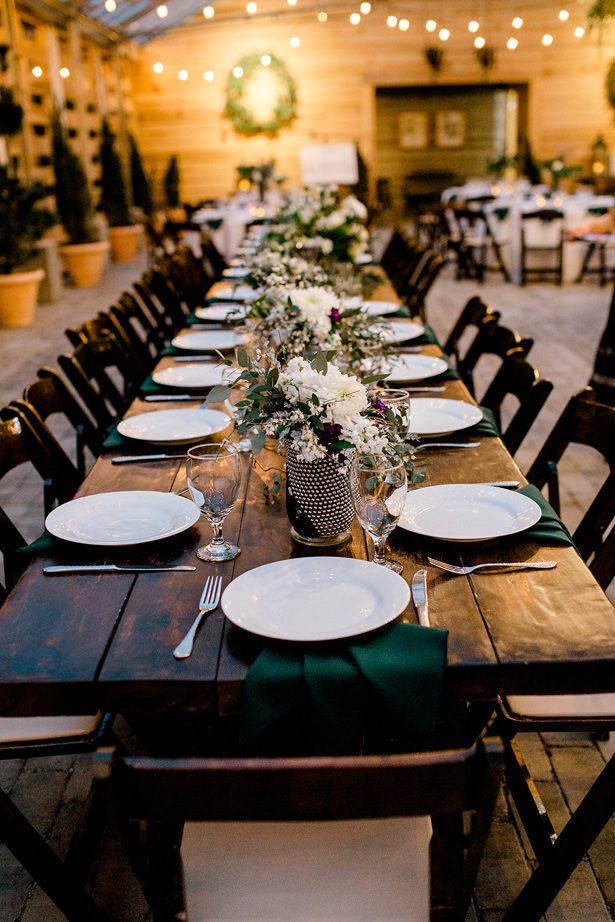 long rustic wedding table - Honey + Bee Photography