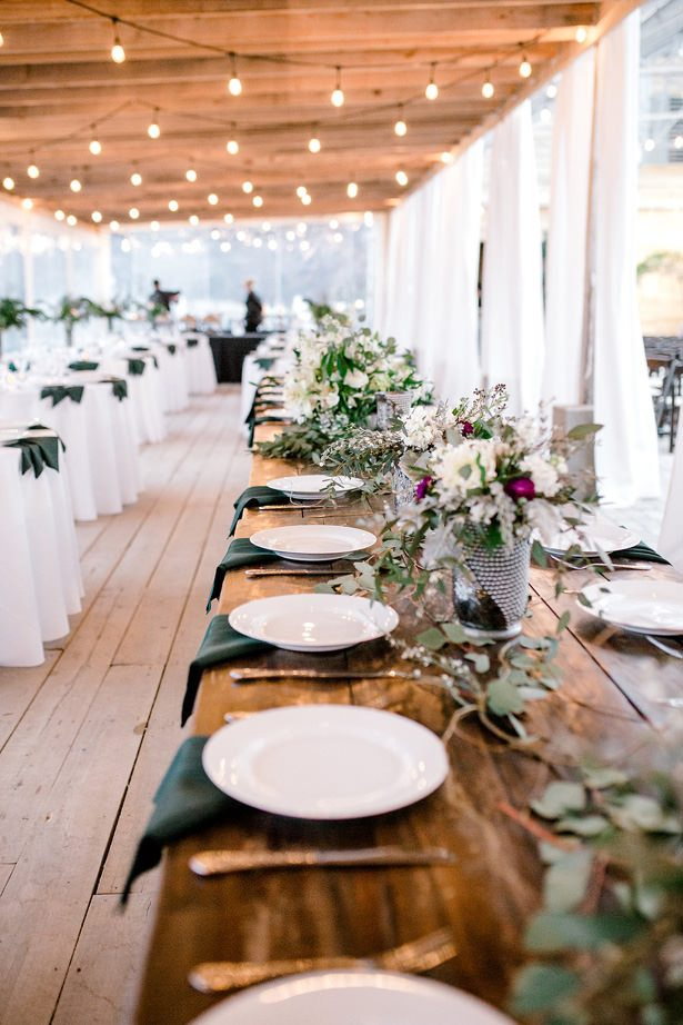 long rustic wedding table decor - Honey + Bee Photography