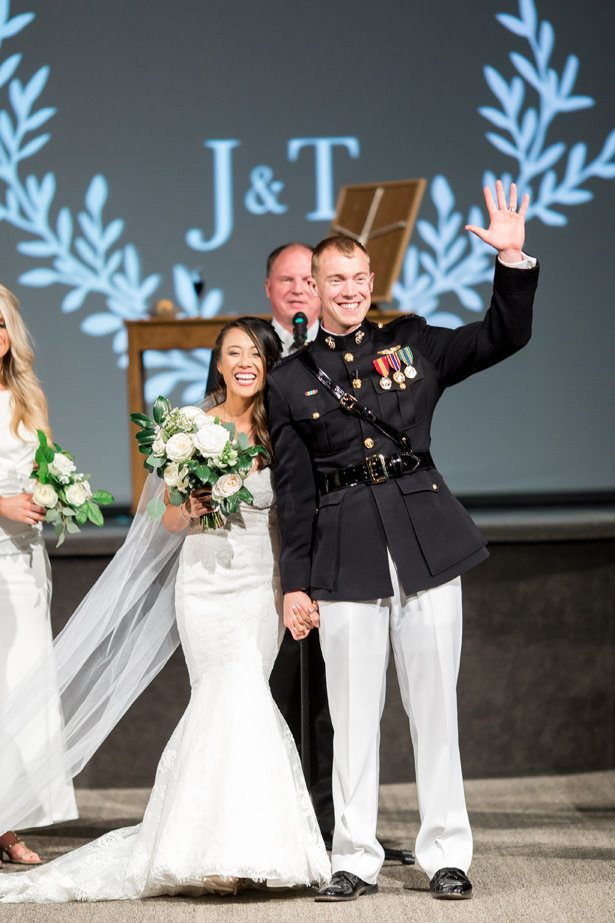 military winter wedding ceremony - Abby Anderson