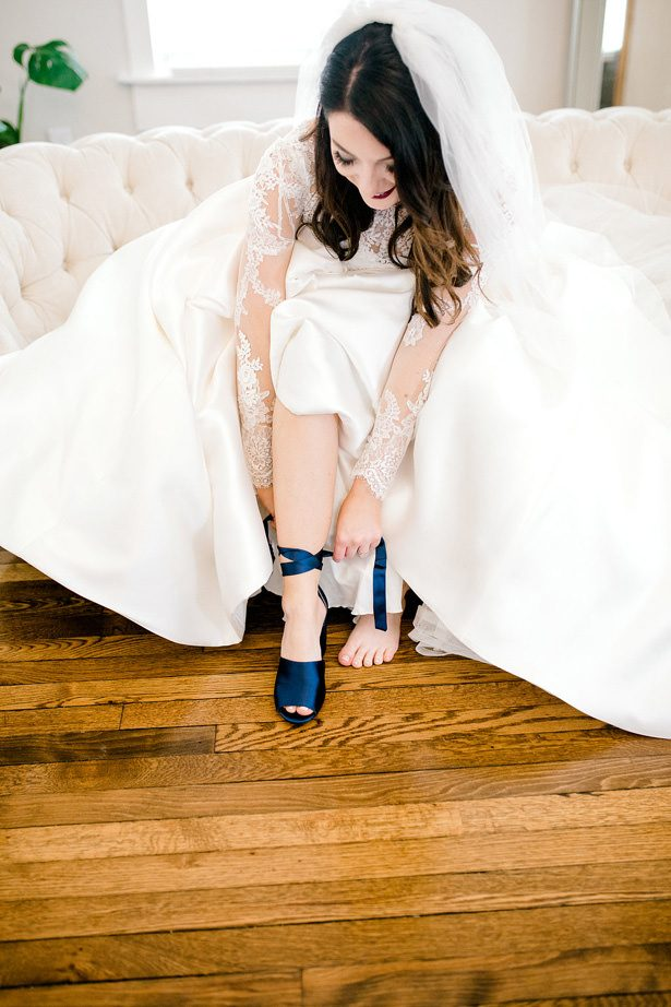 navy wedding shoes - Honey + Bee Photography