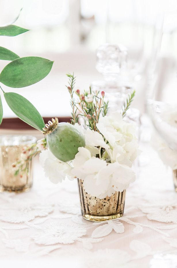 small votive wedding centerpiece - Lynne Reznick Photography