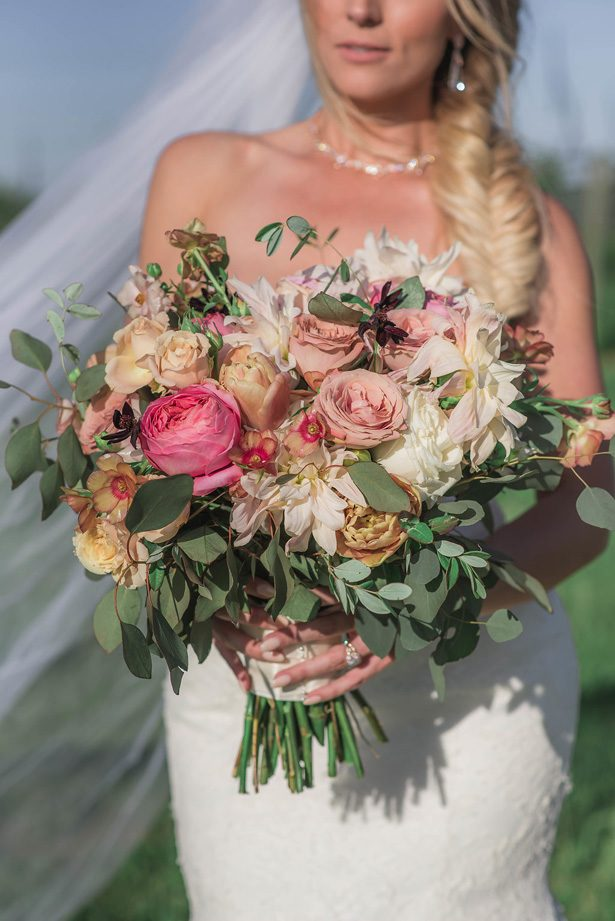vineyard Wedding bouquet - Emily Richardson Photography