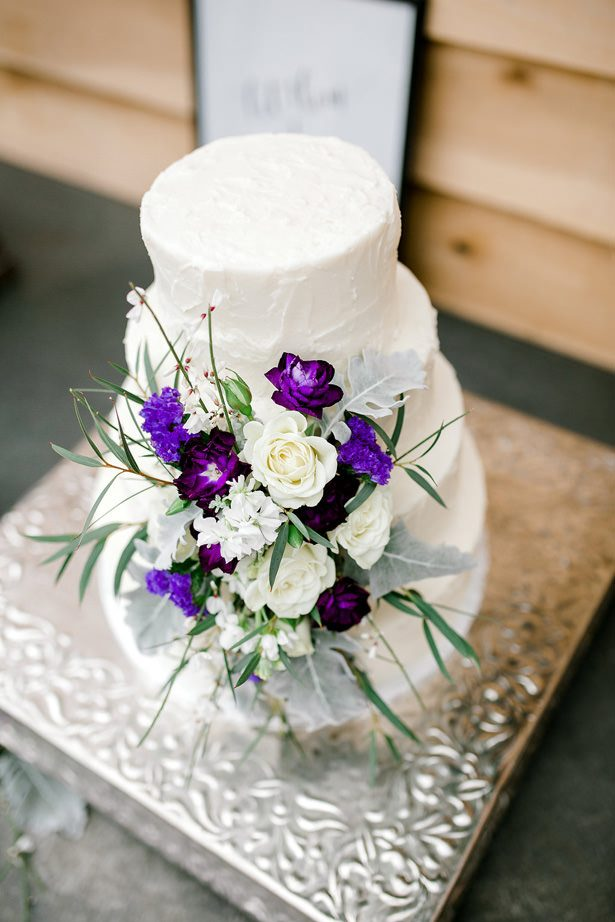 wedding cake flowers - Honey + Bee Photography