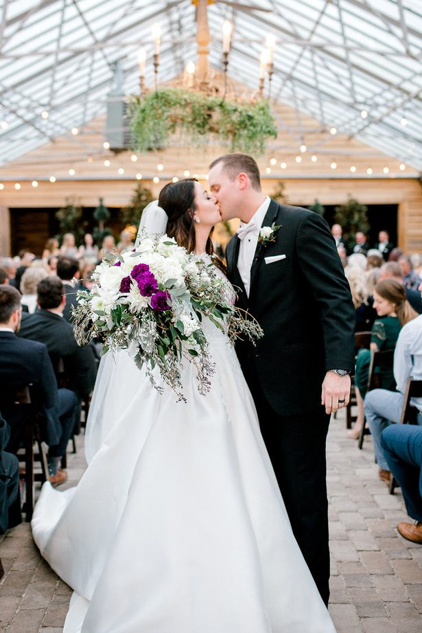 wedding kiss - Honey + Bee Photography