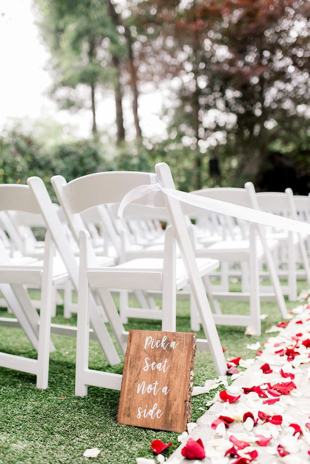 white wedding chairs - XO and Fetti Photography
