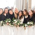 winter wedding party faux mink fur - Abby Anderson