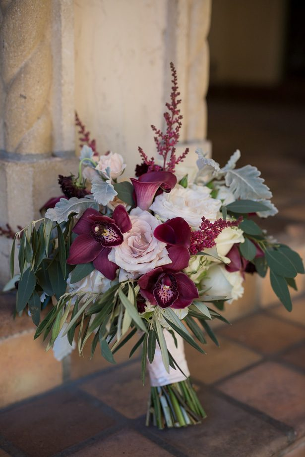 Burgundy wild wedding bouquet- Cat Pennenga Photography