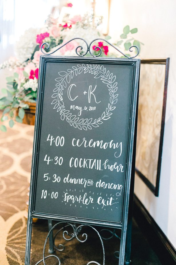 Chalkboard wedding sign - Photography: Lauren Westra