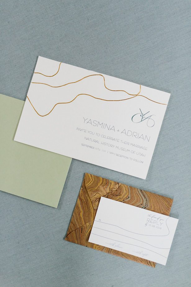 Contemporary meets boho wedding stationery - Photography: Kate Osborne