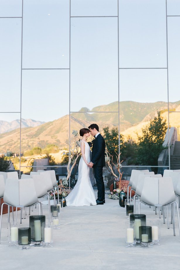 Contemporary museum wedding ceremony - Photography: Kate Osborne