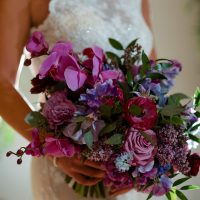 Purple classic wedding bouquet -Sherri Barber Photography