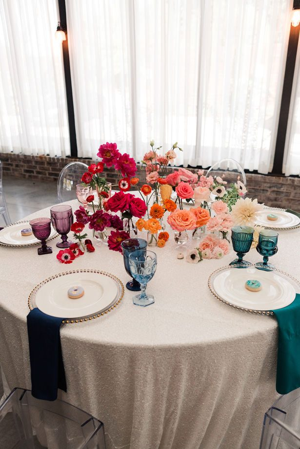 Rainbow Ombré Inspired Wedding Tablescape - Swish + Click Photography