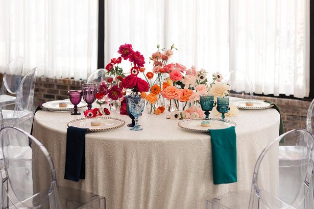Rainbow Ombré Inspired Wedding Tablescape- Swish + Click Photography