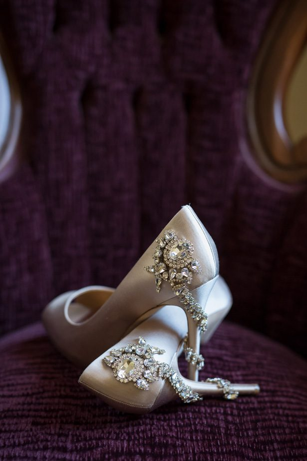 Sparkly glamorous wedding shoes- Cat Pennenga Photography
