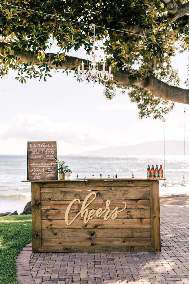 Wedding Bar - Unique Ways to Incorporate Calligraphy Into Your Wedding - Anna Delores Photography