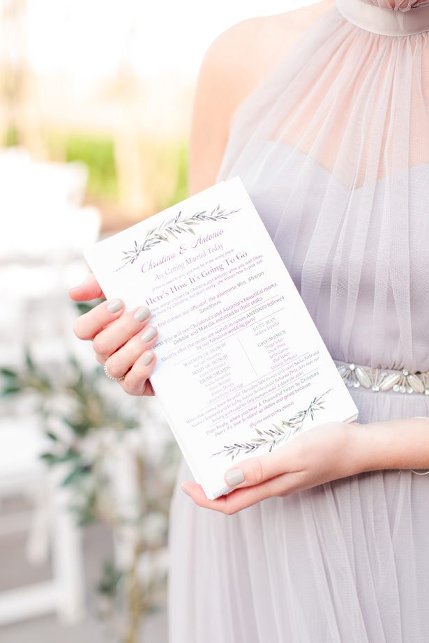 Wedding Day Timeline Card - Bethanne Arthur Photography