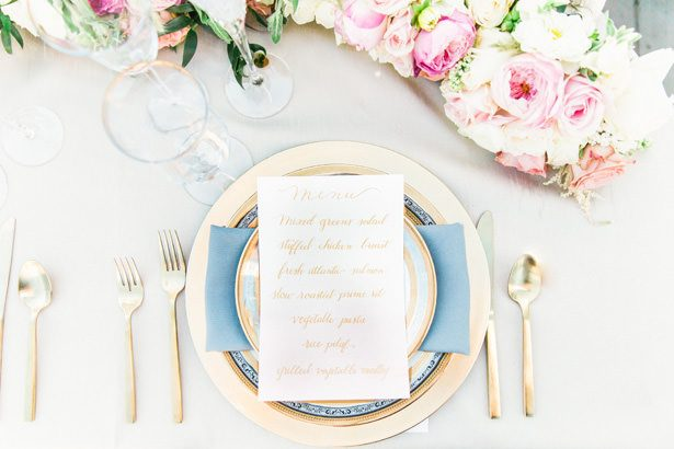Wedding Place setting - Unique Ways to Incorporate Calligraphy Into Your Wedding - James and Jess Photography