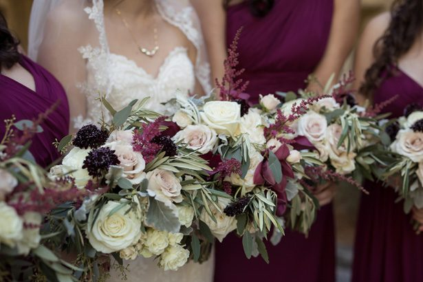 A Classic Burgundy Wedding Filled With Glamour and Romance