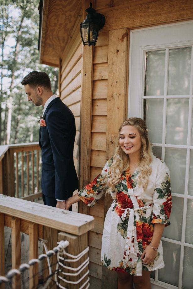 Wedding first look - Kendra Harper Photography