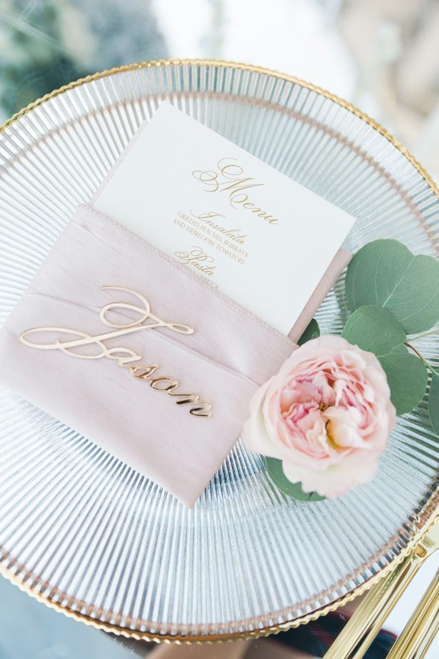 Wedding place setting - Unique Ways to Incorporate Calligraphy Into Your Wedding - Valorie Darling Photography