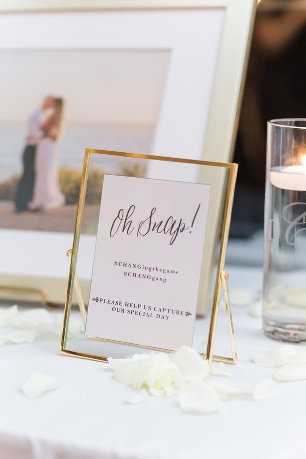 Wedding social sharing sign hashtag - Nichanh Nicole Photos