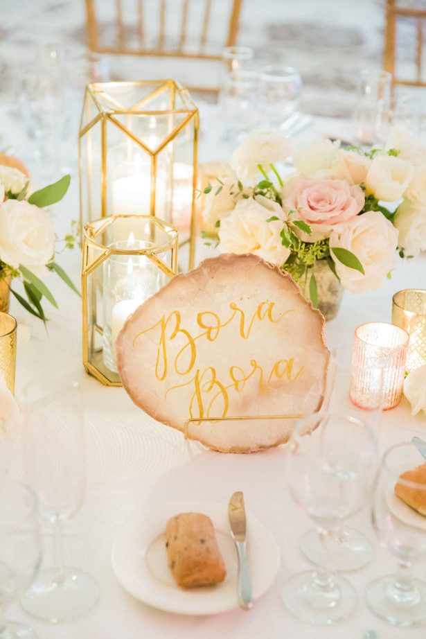 Wedding table number - Unique Ways to Incorporate Calligraphy Into Your Wedding - James & Jess Photography