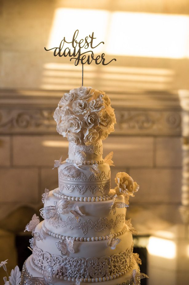 White luxury wedding cake- Cat Pennenga Photography