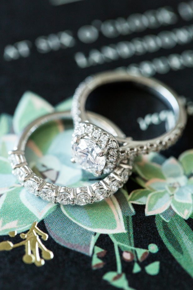 bridal ring set - Bethanne Arthur Photography