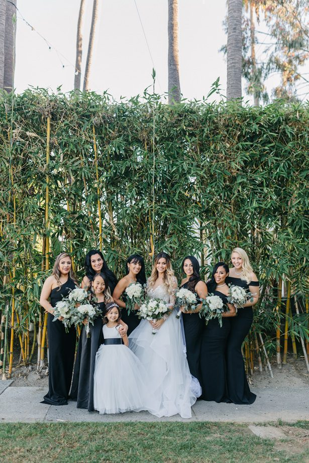 bridesmaids black wedding dress - Nichanh Nicole Photos