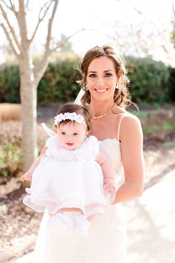 flower girl with bride - Bethanne Arthur Photography