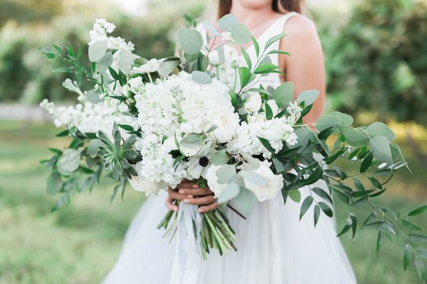 gorgeous wild wedding bouquet - Sarah Sunstrom Photography