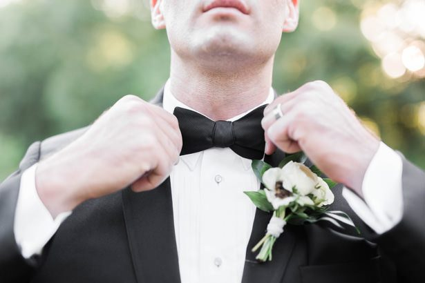 grooms tuxedo with bowtie - Sarah Sunstrom Photography