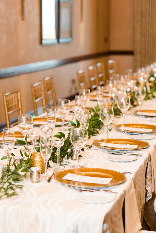 long wedding table decor - Bethanne Arthur Photography