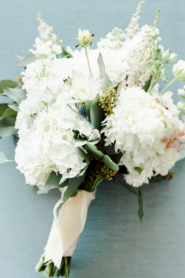 luxe white wedding bouquet - Bethanne Arthur Photography